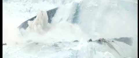 Einmaliges Kalben Illusat-Gletscher – 6min